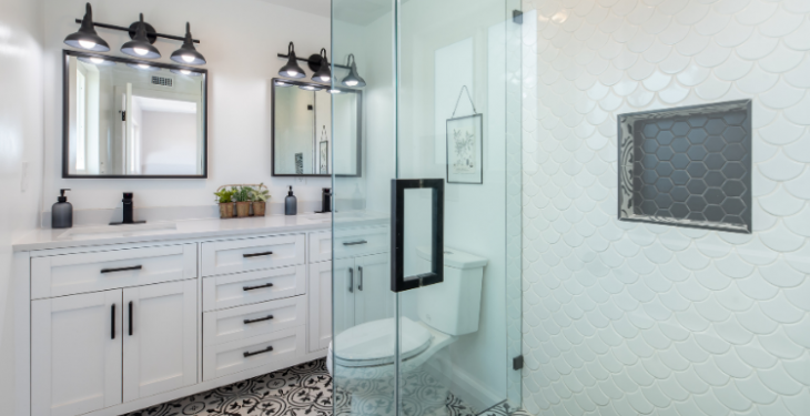 Le noir et blanc pour votre salle de bain - 2